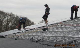 Picture: Plaatsen van de zonnecollectoren