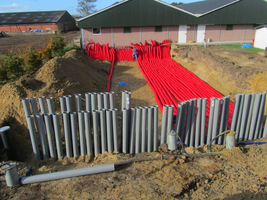 Picture: aanleggen grondbuisventilatie