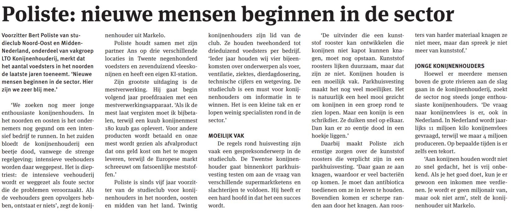 artikel nieuwe oogst LTO nederland 2013